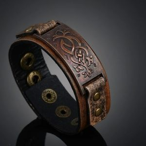 Other - Dragon's Knot Leather Cuff Bracelet